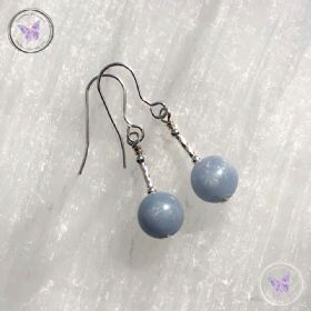 Angelite Silver Earrings